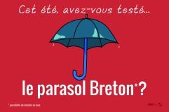 Le stuff breton : le parasol
