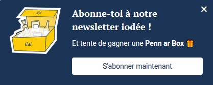 Annotation du site PDA, appel à l'action newsletter