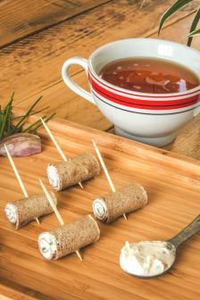 Tapas bretonnes : roulés de crêpe de sarrasin