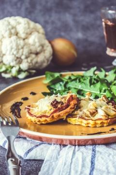 Tartelettes Bacon + Chou-fleur et Oignons