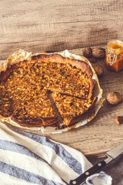 La recette de la tarte Caranoix : caramel breton et noix !