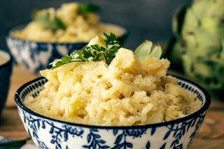 La recette du risotto à l'artichaut